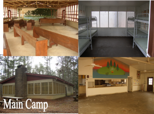 Main Camp: Shelter, cabins, Pavilion