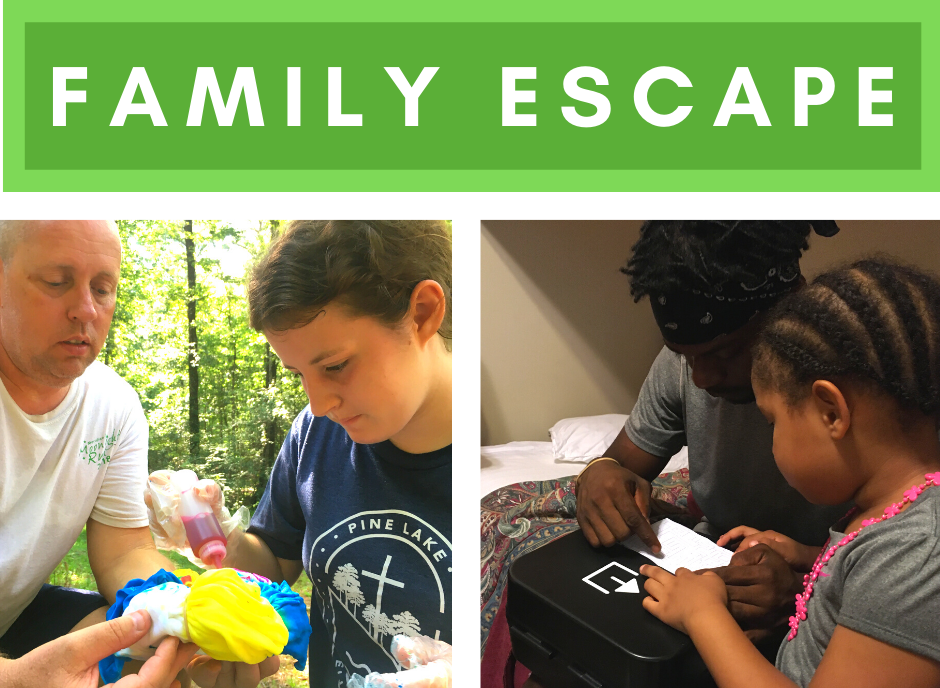 Two families at Family Escape in July enjoyed various activities